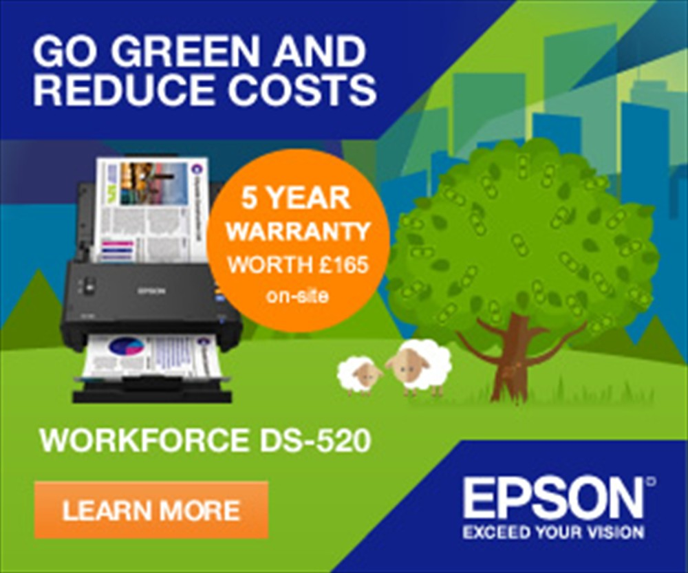 Epson Workforce DS-520 scanner with 5 Year Warranty Extension 2