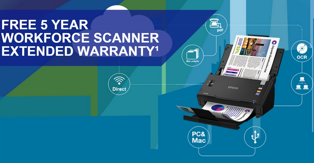 Epson Workforce DS-520 scanner with 5 Year Warranty Extension 3