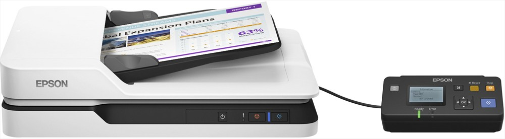Epson WorkForce DS-1630 scanner with optional Network Unit